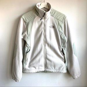 The North Face green & cream fleece size S